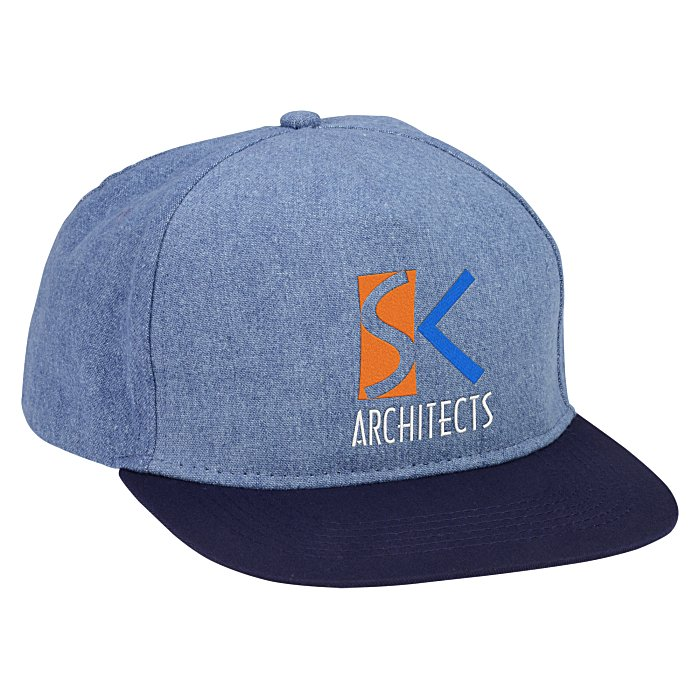 6ce2cc9f707 4imprint.com  Shades of Blue Denim Cap 140621