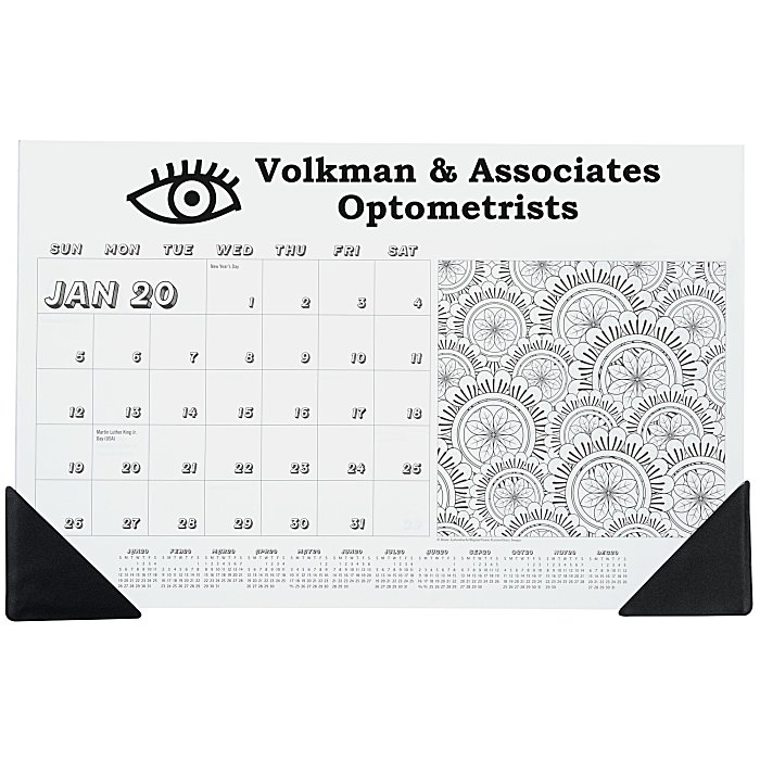 Coloring Desk Pad Calendar With Corners