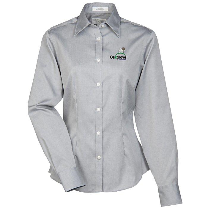 6140b0e148d5 4imprint.com: Van Heusen Wrinkle-Free Pinpoint Dress Shirt - Ladies'  140992-L