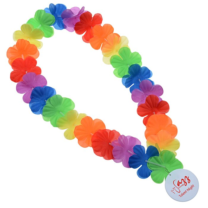 glow rave blinking led hawaiian flashing flower s p lei necklace vacation luau