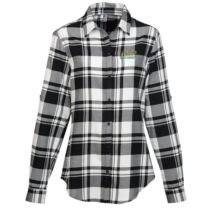 1380eb00 4imprint.com: Plaid Flannel Shirt - Ladies' 142041-L