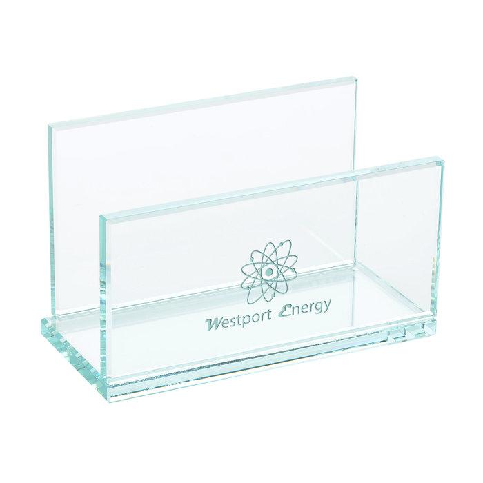 4imprint.com: Jade Glass Business Card Holder 142363