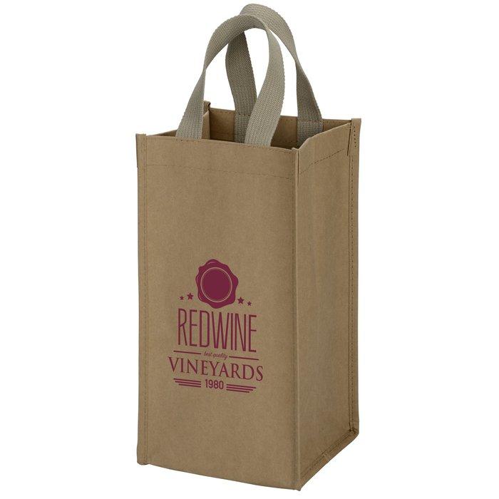 Tornado Washable Kraft Paper Wine Tote Bag