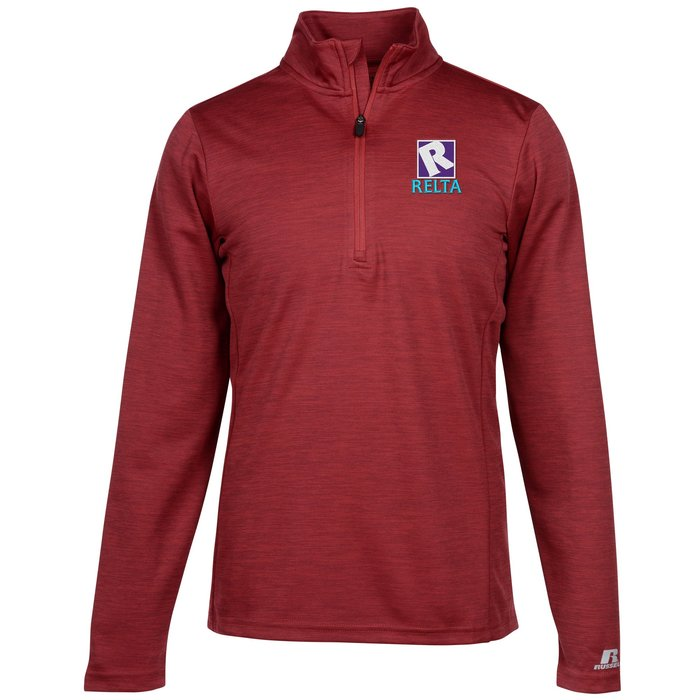 5956497a8d538 4imprint.com  Russell Athletic Performance 1 4-Zip Pullover - Men s -  Embroidered 143909-M-E