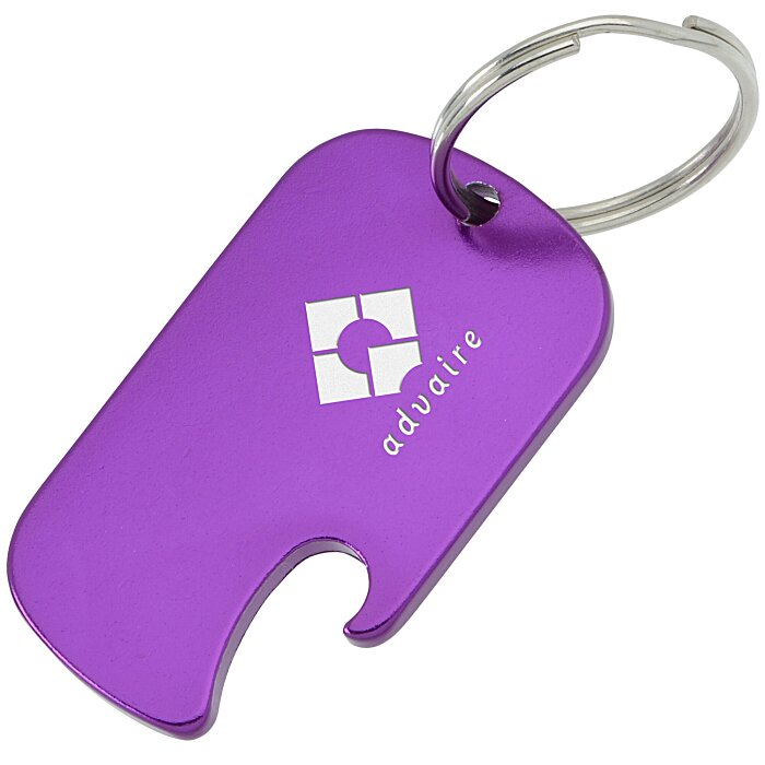 dog tag bottle opener keychain 144080 imprinted with your logo. Black Bedroom Furniture Sets. Home Design Ideas