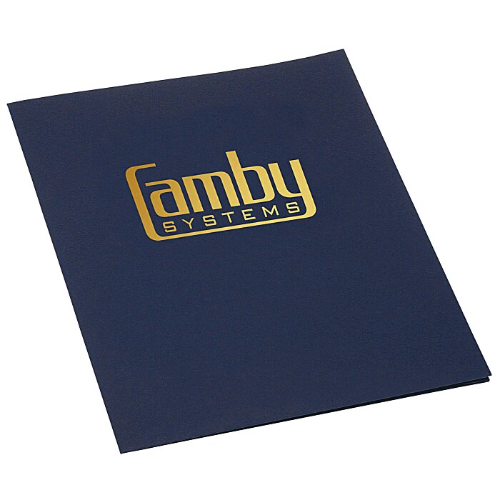 Linen Paper Two Pocket Presentation Folder  Resume Presentation Folder