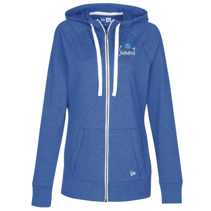 be1f5df8530 4imprint.com  New Era Sueded Cotton Full-Zip Hoodie - Ladies  - Embroidered  144715-L-E