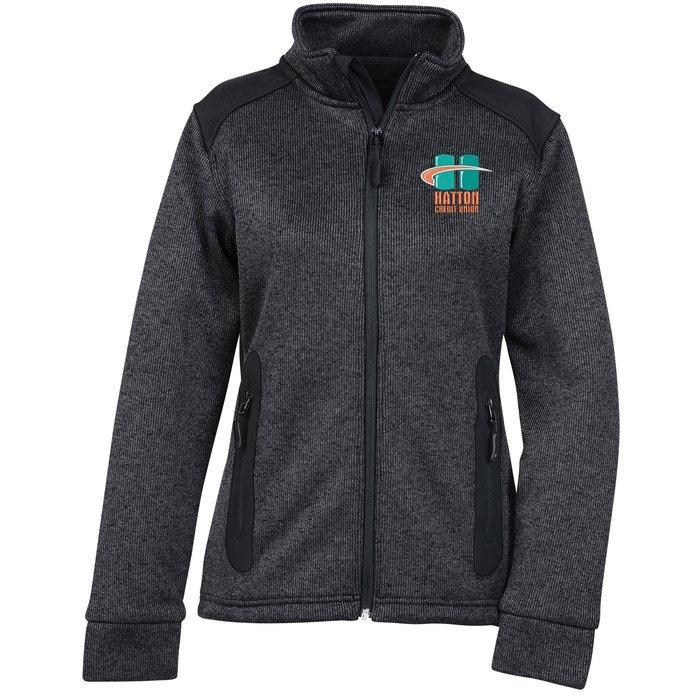 bd913155c 4imprint.com  Heavy Knit Technical Sweater Fleece Jacket - Ladies  - 24 hr  138243-L-24HR