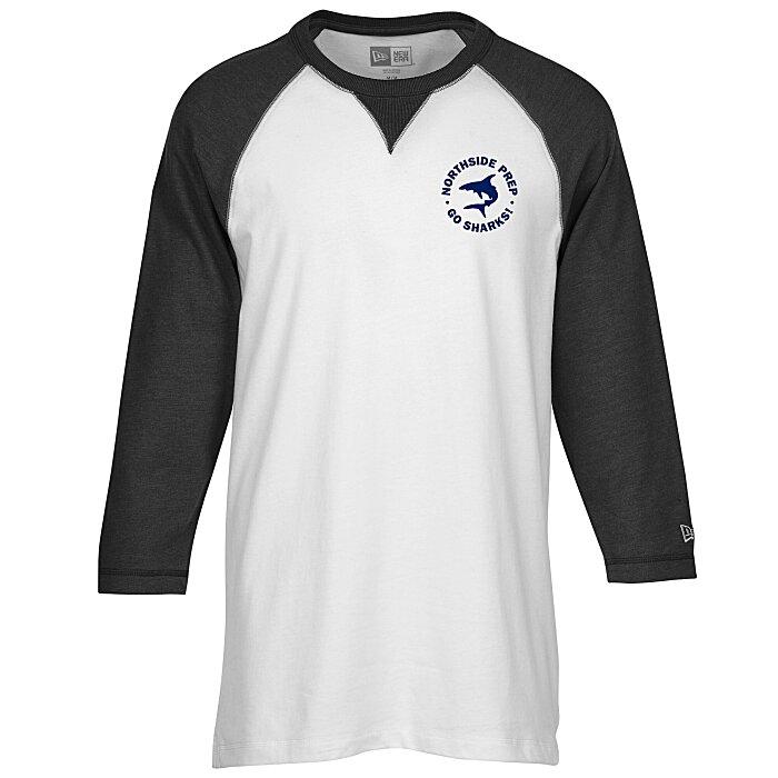 499b582d8d 4imprint.com  New Era Sueded Cotton 3 4 Sleeve Baseball Tee - Men s -  Screen 145041-M-S