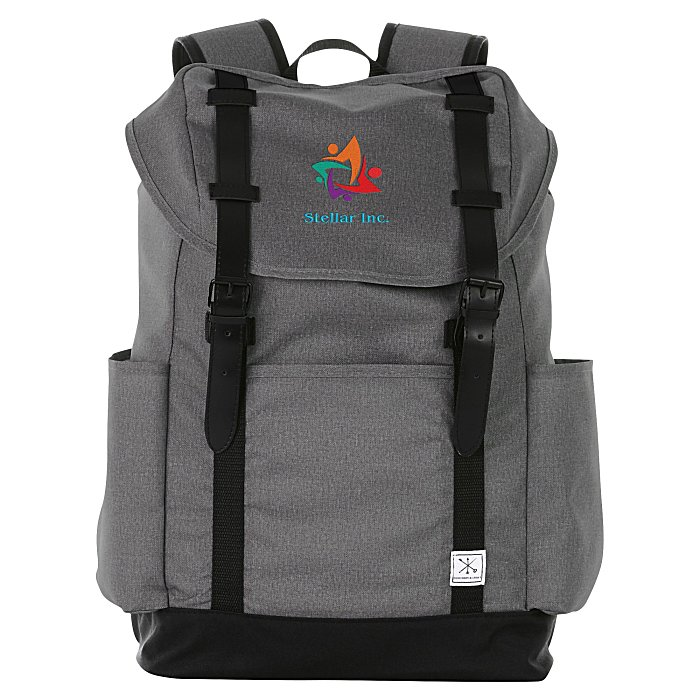 48098240da8335 Merchant & Craft Thomas 15 inches Laptop Rucksack Backpack - Embroidered  Main Image