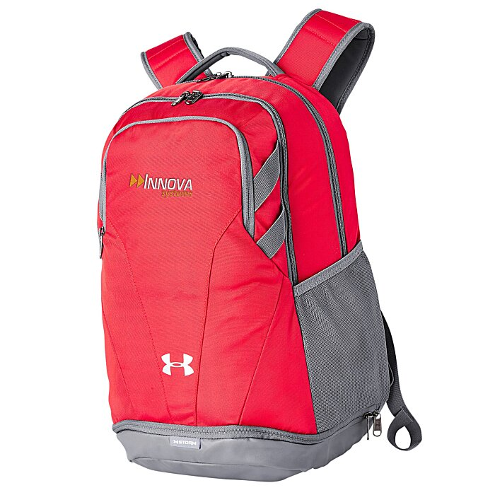 4imprint.com  Under Armour Hustle II Backpack - Embroidered 145423-E 077fc36eff8b7