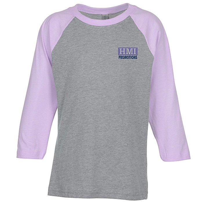770924ad 4imprint.com: Next Level CVC 4.3 oz. Raglan T-Shirt - Youth - Embroidered  145002-Y-E