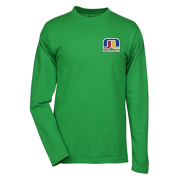 d1d45be9 4imprint.com: Dri-Balance Blend Long Sleeve T-Shirt - Men's - Embroidered  109028-LS-M-E