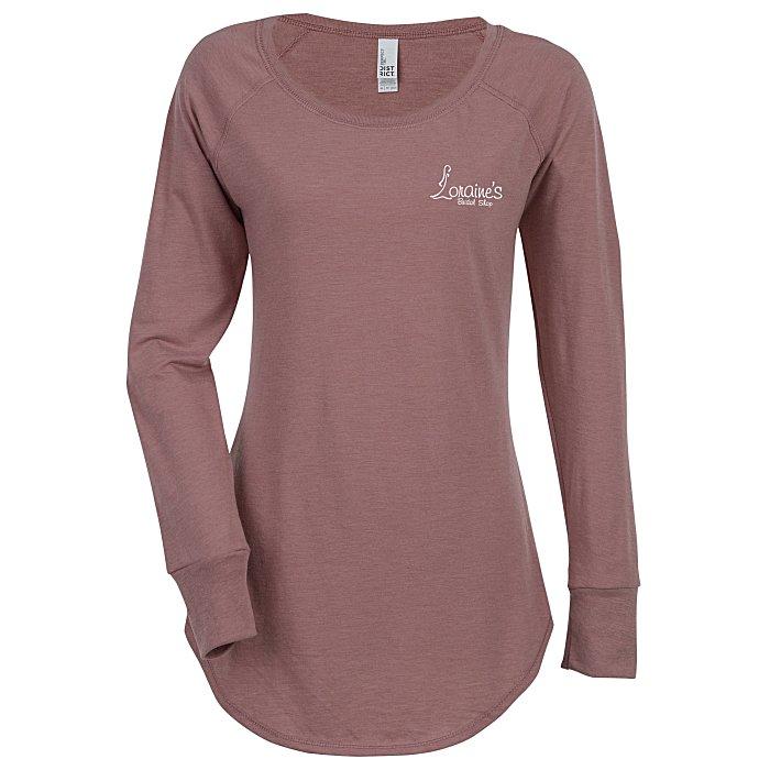 5c22509c55e2ff 4imprint.com: Optimal Tri-Blend Long Sleeve T-Shirt - Ladies' - Colors -  Screen 133564-L-LS-C-S
