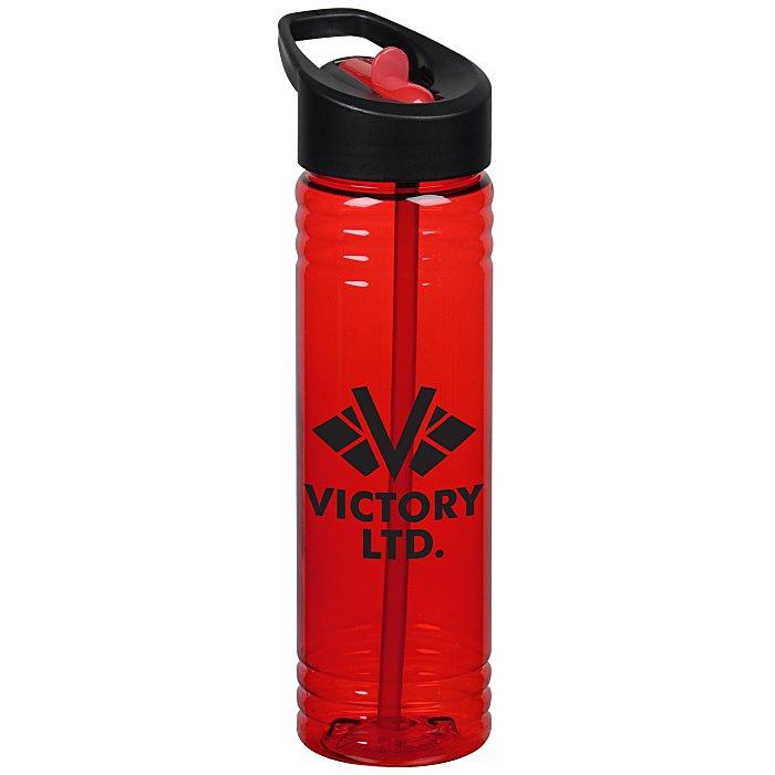 df6f184a59 4imprint.com: Halcyon Water Bottle with Two-Tone Flip Straw - 24 oz.  147033-FS-TT