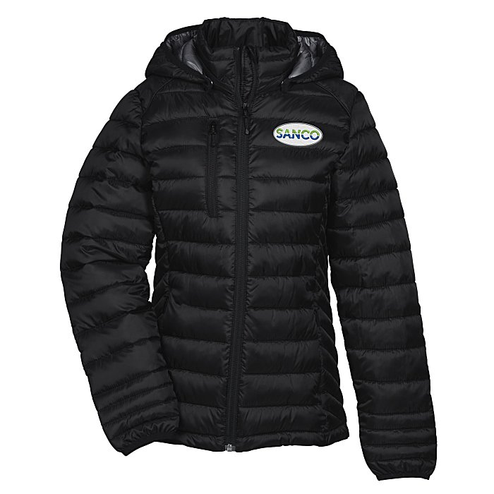 4imprint.com  Hudson Quilted Hooded Jacket - Ladies  147176-L 87e5d5a027c9