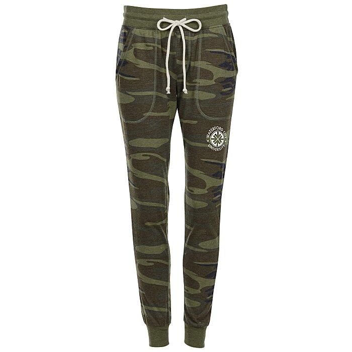 80f778362e7 4imprint.com: Alternative Eco-Jersey Classic Jogger Pants - Ladies' - Camo  147335-L-CAMO