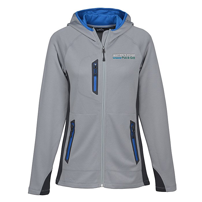 e2807a2da671 4imprint.com  Eddie Bauer Colorblock Hooded Fleece Jacket - Ladies ...
