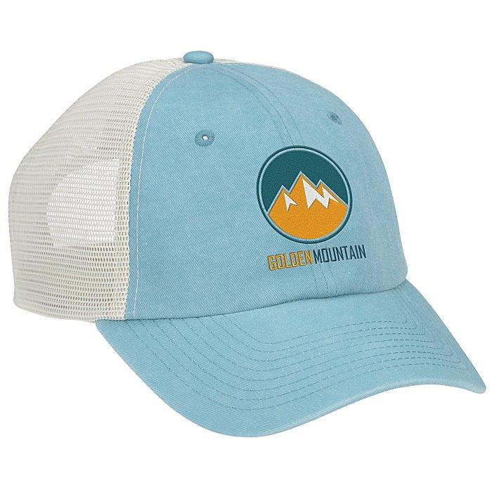 4imprint.com  Pigment-Dyed Mesh Back Trucker Cap 149440 5427fb399065