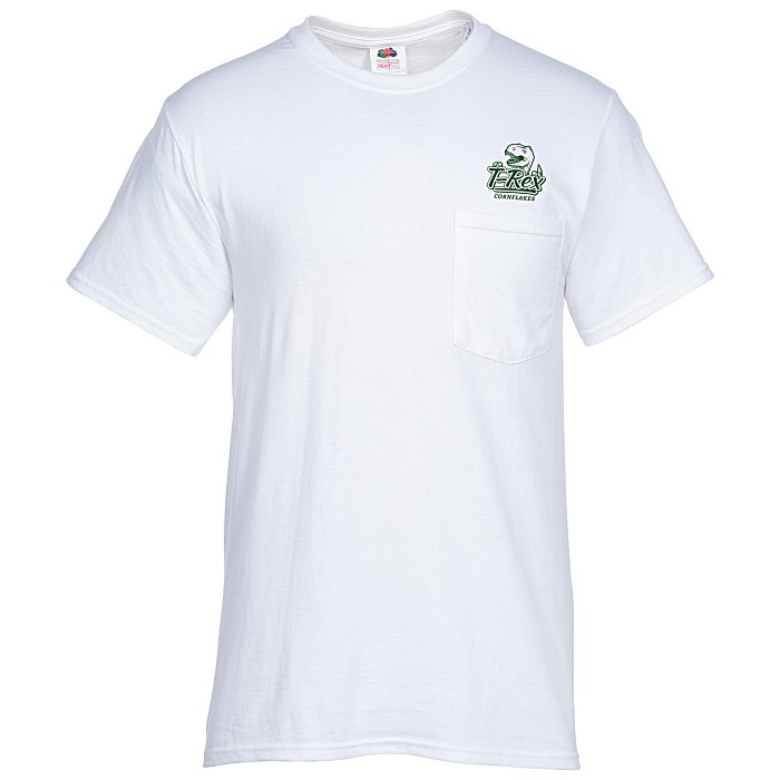 78a813c0 4imprint.com: Fruit of the Loom HD Pocket T-Shirt - Men's - White  103493-M-P-W