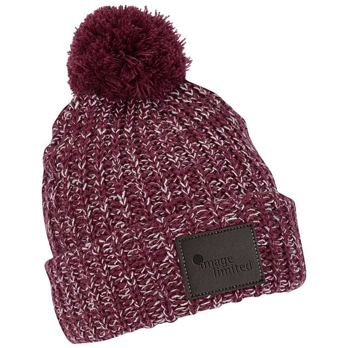 dafe37264a6 4imprint.com  Pom Pom Patch Beanie with Cuff 150401