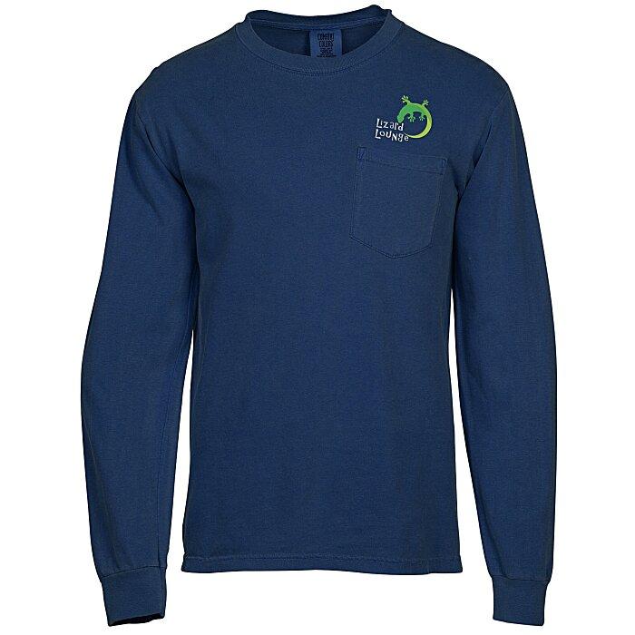 52d71ffd2 4imprint.com: Comfort Colors Garment Dyed 6.1 oz. LS Pocket T-Shirt -  Embroidered 147306-LS-P-E