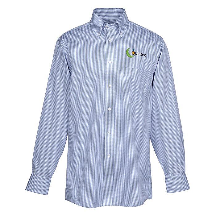 08996180595 4imprint.com  Van Heusen Blue Suitings Non-Iron Patterned Shirt 151748