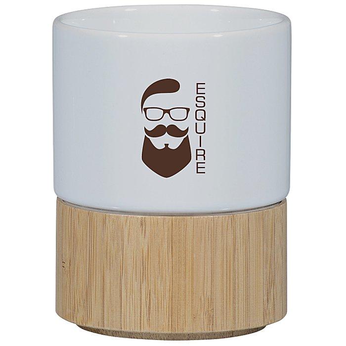 64ad3b9c01 4imprint.com  Ceramic and Bamboo Mug - 8 oz. 151864