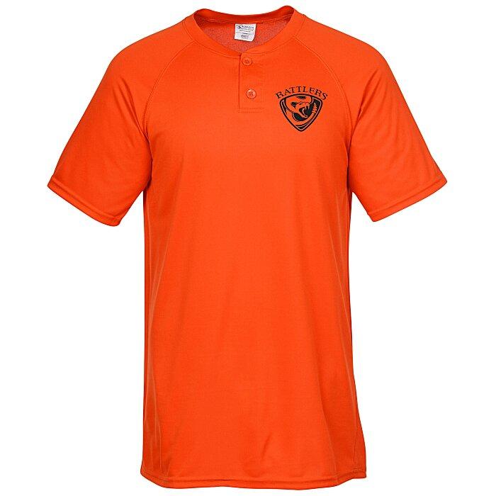 new style 488ef 31bb3 Augusta Sportswear Attain 2-Button Baseball Jersey