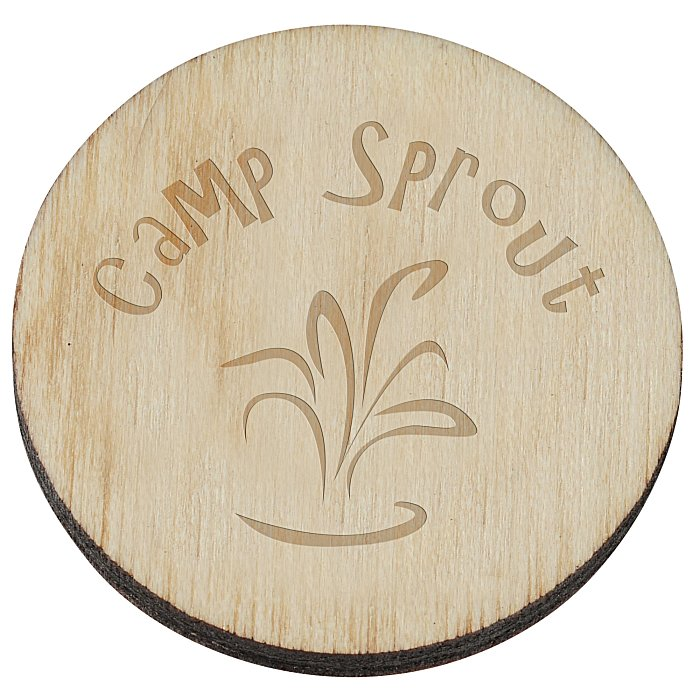 Laser Engraved Wood Lapel Pin: 4imprint.com: Wood Lapel Pin