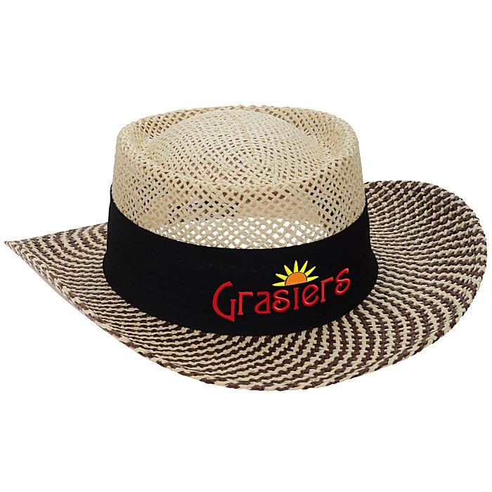b56d49c7 4imprint.com: AHEAD Straw Gambler Hat 152603