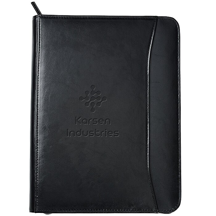 Zippered Portfolio Leather