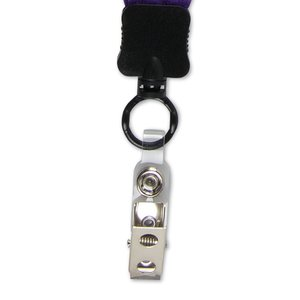 "Big Lanyard - 7/8"" - 32"" - Snap with Metal Bulldog Clip"