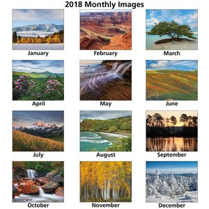 Landscapes of America Calendar (English) - Stapled Image 1 of 1