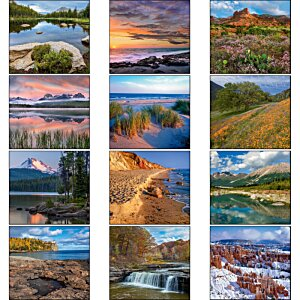 Landscapes of America Calendar - Mini Image 1 of 1