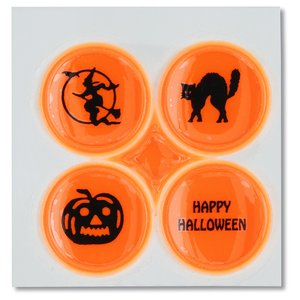 Halloween Safety Card with Quad-Dots Image 1 of 3