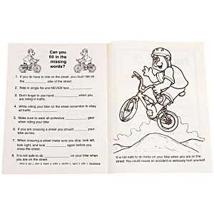 Practice Bike Safety Coloring Book Image 1 of 1
