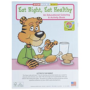 Eat Right, Eat Healthy Coloring Book Image 2 of 4