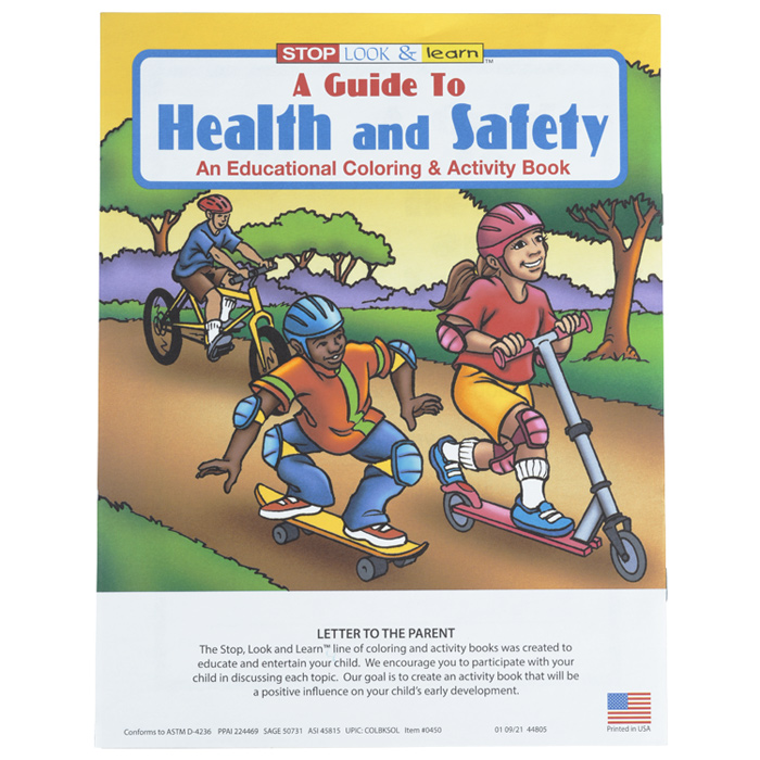 A Guide To Health Safety Coloring Book Image 1 Of Loading Zoom