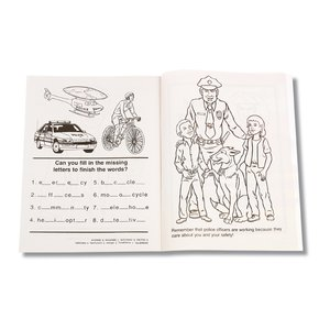 Police Officers Care Coloring Book Image 1 of 1