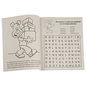 Be Smart, Save Money Coloring Book - Spanish Image 1 of 1