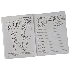 Home Safety Coloring Book Image 1 of 1
