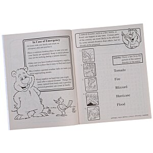 Learning Natural Disaster Safety Coloring Book Image 1 of 1