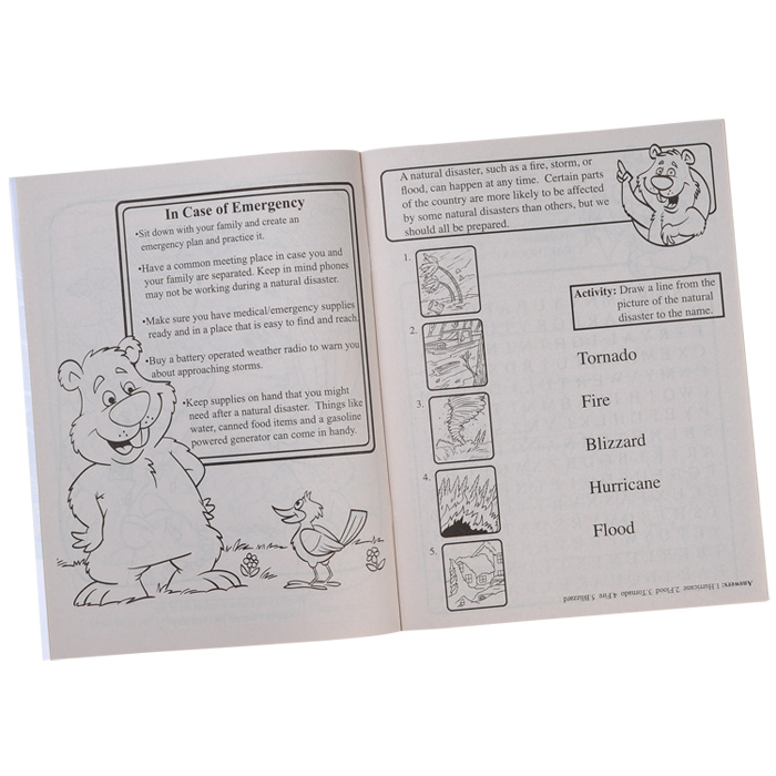 4imprint Learning Natural Disaster Safety Coloring Book 1034 LND