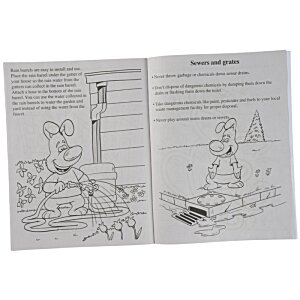 Learn About Water Conservation Coloring Book Image 1 of 1