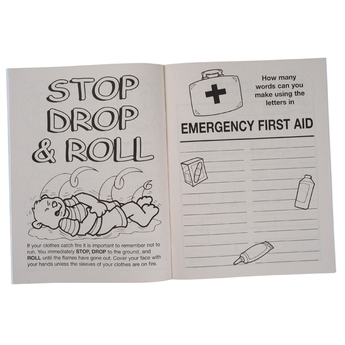 Free Coloring Pages About First Aid: 4imprint.com: Know Your Emergency First Aid Coloring Book