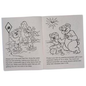 Pool & Water Safety Coloring Book Image 1 of 1