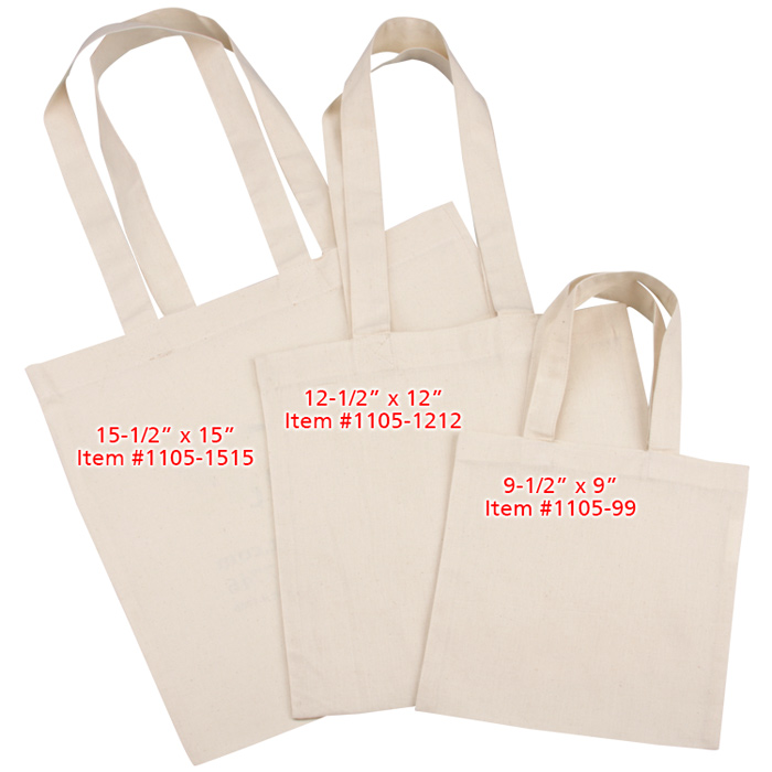 4imprint.com  Cotton Sheeting Natural Economy Tote - 15-1 2