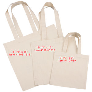 Cotton Sheeting Natural Economy Tote - 9-1/2