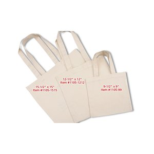 "Cotton Sheeting Natural Economy Tote - 15-1/2"" x 15"""